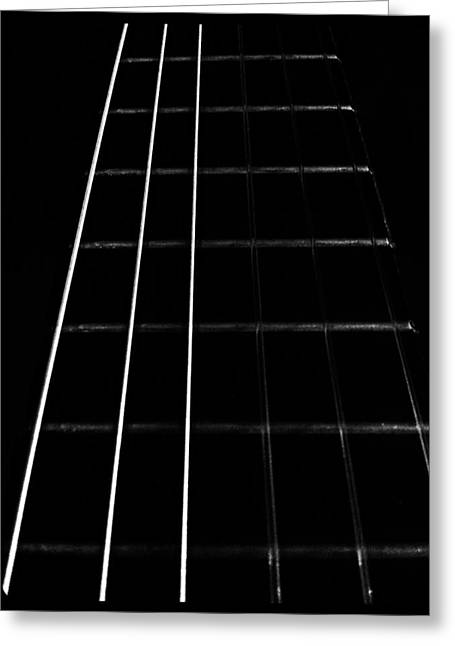 Noise . Sounds Photographs Greeting Cards - Fretboard Greeting Card by I F Abbie Shores