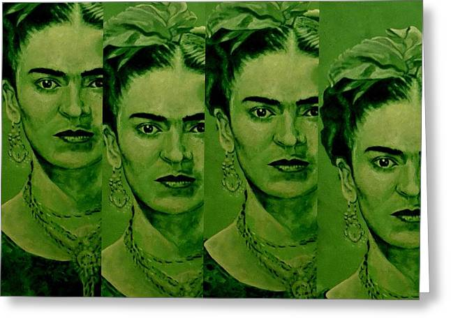 Zeitgeist Greeting Cards - Frida 4u Greeting Card by Richard Tito