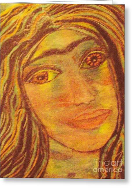 Unibrow Greeting Cards - Frida Angosturas 2 Greeting Card by Viva La Vida Galeria Gloria