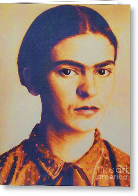 Lenticular Pd Greeting Cards - Frida In Sepia  3 Greeting Card by Roberto Prusso