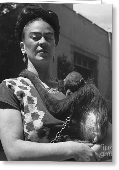 Famous Person Greeting Cards - Frida Kahlo Greeting Card by Fritz Henle