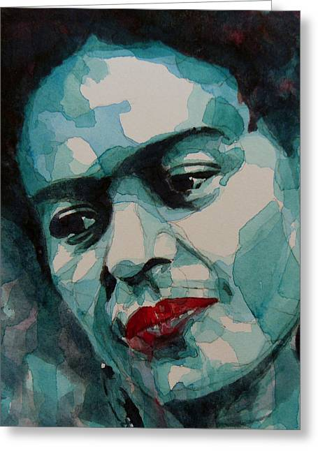 Eyes Paintings Greeting Cards - Frida Kahlo Greeting Card by Paul Lovering
