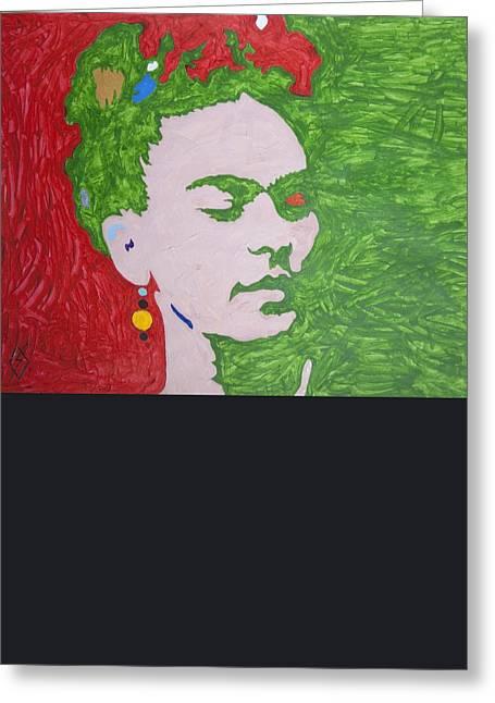 Mockery Greeting Cards - Frida Kahlo Greeting Card by Stormm Bradshaw