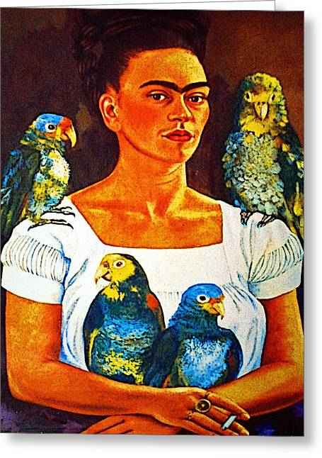 Guadalajara Greeting Cards - Frida of Tlaquepaque Greeting Card by Olden Mexico