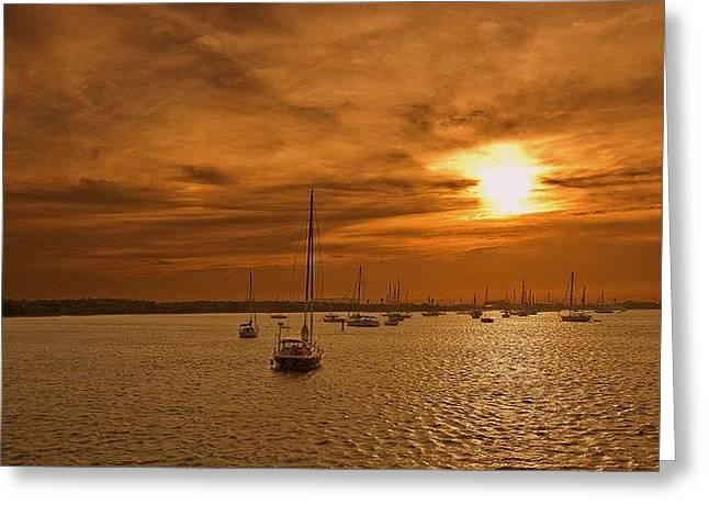 Sundown Framed Prints Greeting Cards - Friday Greeting Card by John Harding Photography
