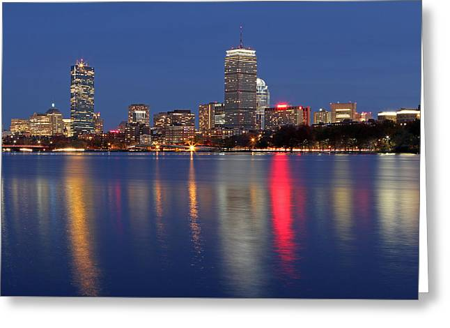 Boston Skyline Photo Greeting Cards - Friday Night and Loving It Greeting Card by Juergen Roth