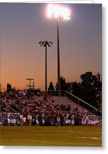 Franklin Tn Greeting Cards - Friday Night Lights Greeting Card by Troy Johns