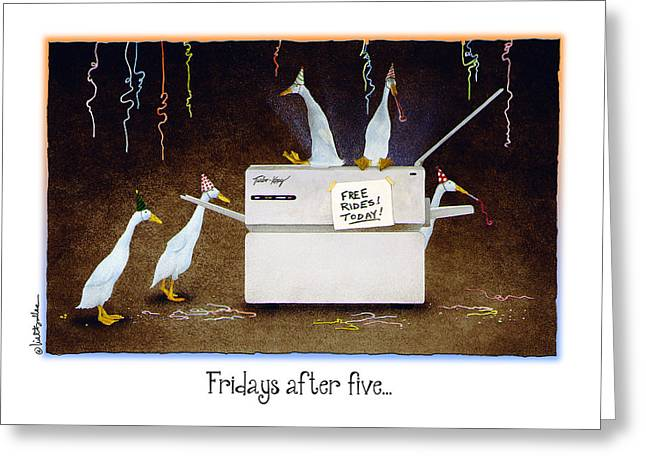 Copy Machine Greeting Cards - Fridays after five... Greeting Card by Will Bullas