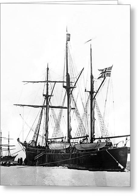 Fridtjof Nansen's Ship, �fram� Greeting Card by Underwood Archives