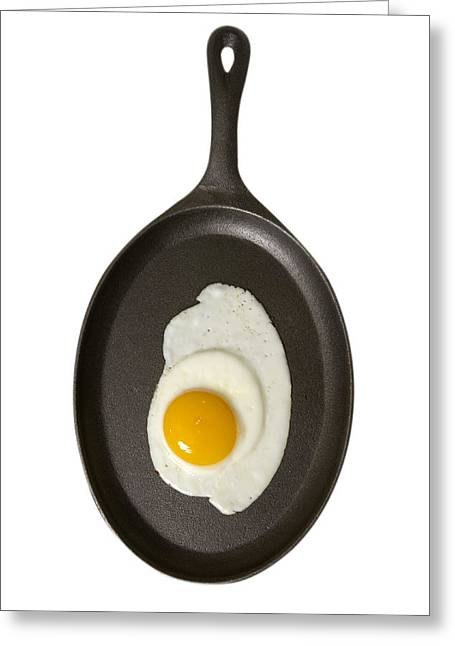 Sunny Side Up Eggs Greeting Cards - Fried Egg Sunny Side Up Greeting Card by Donald  Erickson