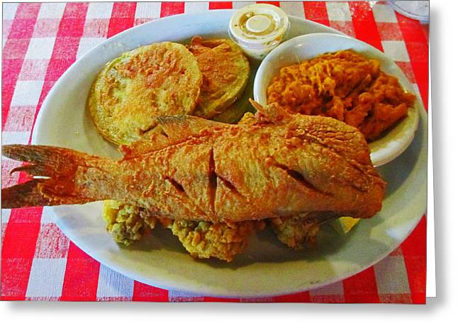 Southern Comfort Greeting Cards - Fried Fish Fantasy Greeting Card by Randall Weidner