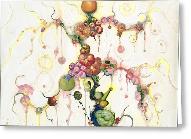 Fried Pink Tomatoes Greeting Card by Douglas Fromm