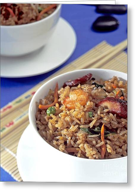Fried Rice Greeting Card by Tim Hester