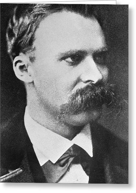 Intelligent Greeting Cards - Friedrich Wilhelm Nietzsche Greeting Card by French Photographer