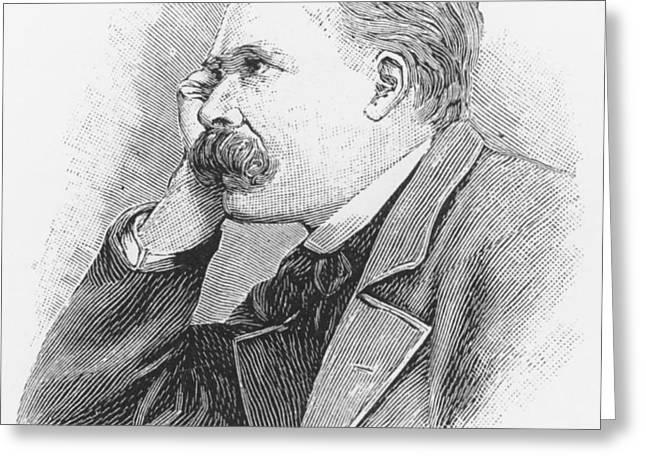 Friedrich Wilhelm Nietzsche Greeting Card by French School