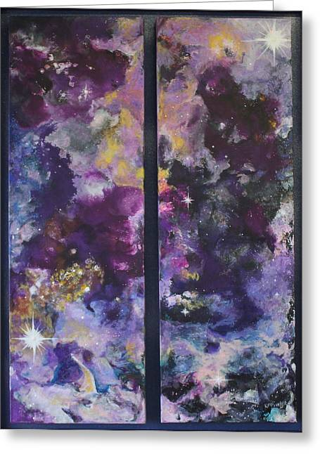 Twinkle Paintings Greeting Cards - Friend and Faux Greeting Card by Kathleen Fowler