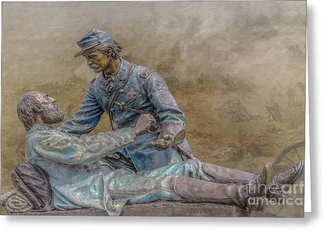 Friend To Friend Monument Gettysburg Version Two Greeting Card by Randy Steele