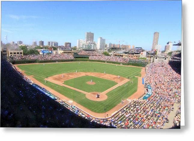Baseball Game Greeting Cards - Friendly Confines Greeting Card by Greg Thiemeyer
