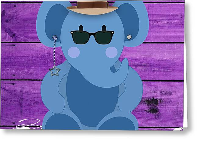 Kids Room Greeting Cards - Friendly Elephant Greeting Card by Marvin Blaine