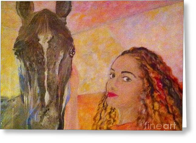 B Russo Greeting Cards - Friends Greeting Card by B Russo