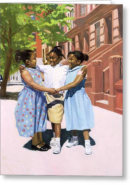 African American Artist Greeting Cards - Friends Greeting Card by Colin Bootman