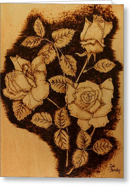 Negative Pyrography Greeting Cards - Friends Greeting Card by Dale Bradley