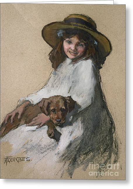 Female Friendship Greeting Cards - Friends Greeting Card by Elizabeth Adela Stanhope Forbes