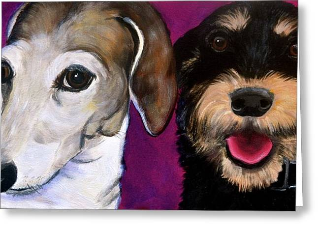 Best Friend Greeting Cards - Friends Forever Greeting Card by Debi Starr