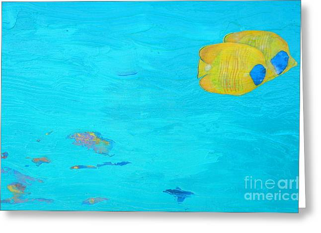 Snorkelling Greeting Cards - Friends Forever Greeting Card by Kristen Ashton