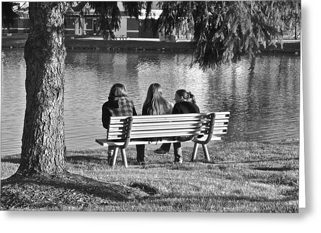 Family Love Greeting Cards - Friends in Black and White Greeting Card by Frozen in Time Fine Art Photography