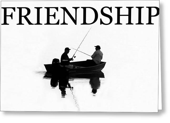 Inspirational Cards Greeting Cards - Friendship BW work A Greeting Card by David Lee Thompson