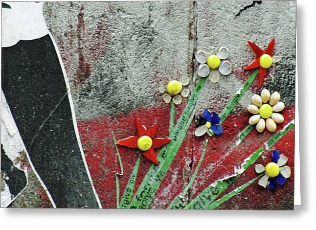 Friendship Flowers Graffiti Art Greeting Card by AdSpice Studios