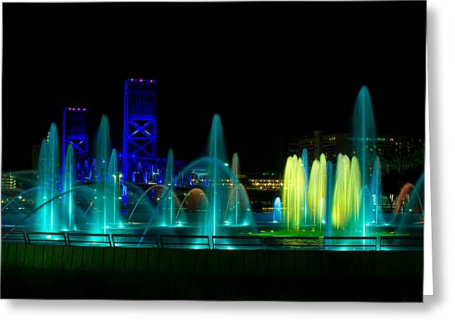 Jaguars Greeting Cards - Friendship Fountain Jacksonville Greeting Card by Jack Zievis