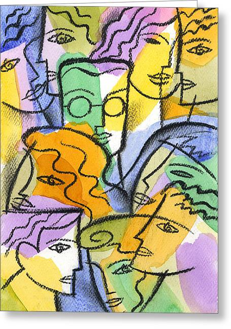 Companionship Greeting Cards - Friendship Greeting Card by Leon Zernitsky
