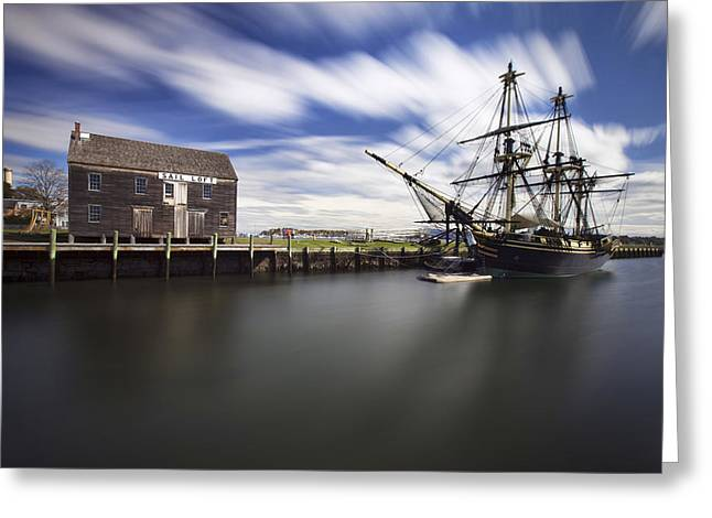 Park Scene Greeting Cards - Friendship of Salem Greeting Card by Eric Gendron