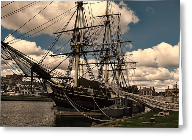 Historic Sites Greeting Cards - Friendship of Salem Greeting Card by Lourry Legarde
