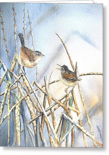 Wren Greeting Cards - Friendship Greeting Card by Patricia Pushaw