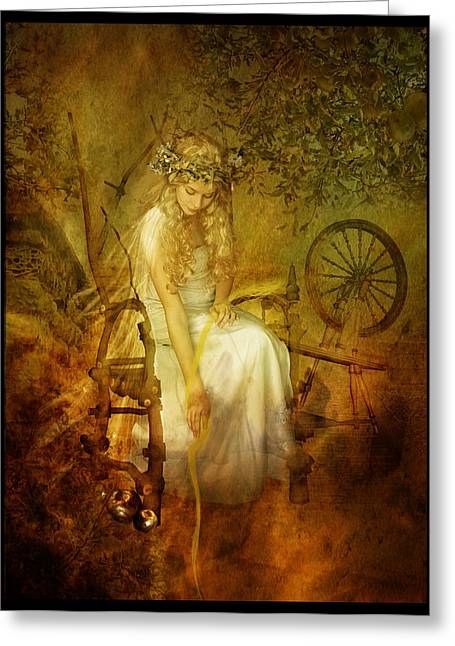 Norse Greeting Cards - Frigg Greeting Card by Karen K