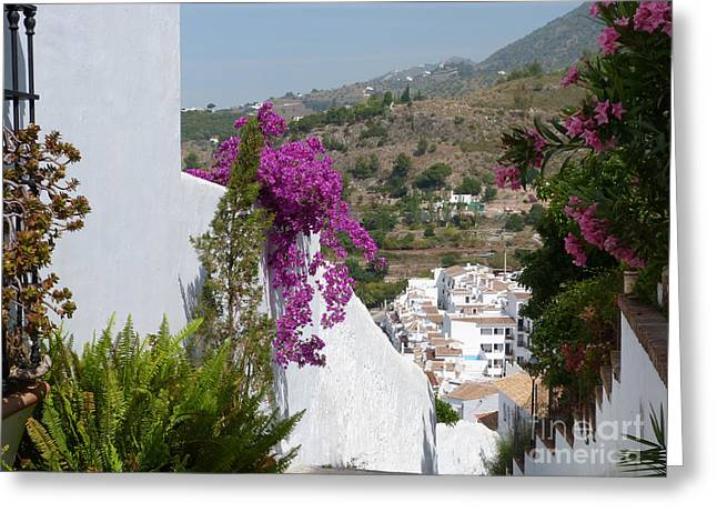 Frigiliana Vista Greeting Card by Phil Banks