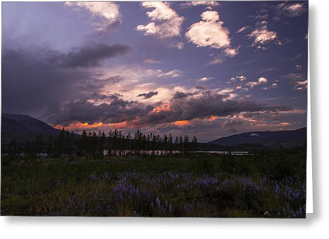 Scenic Greeting Cards - Frisco Colorado Sunset Greeting Card by Michael J Bauer