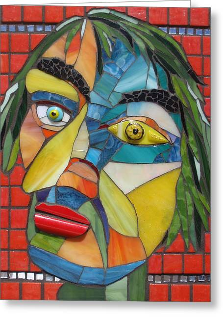Mixed-media Glass Art Greeting Cards - Fritz Ellen Greeting Card by Gila Rayberg