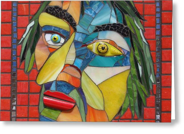 Expressive Glass Greeting Cards - Fritz Ellen Greeting Card by Gila Rayberg