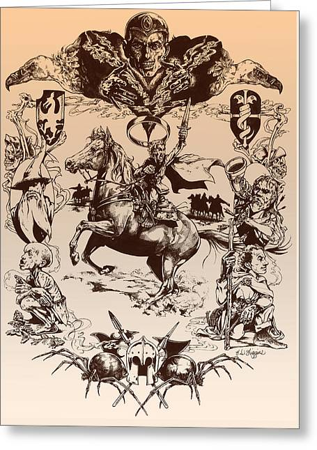 Sorcerer Greeting Cards - frodo- Tolkien appreciation Greeting Card by Derrick Higgins