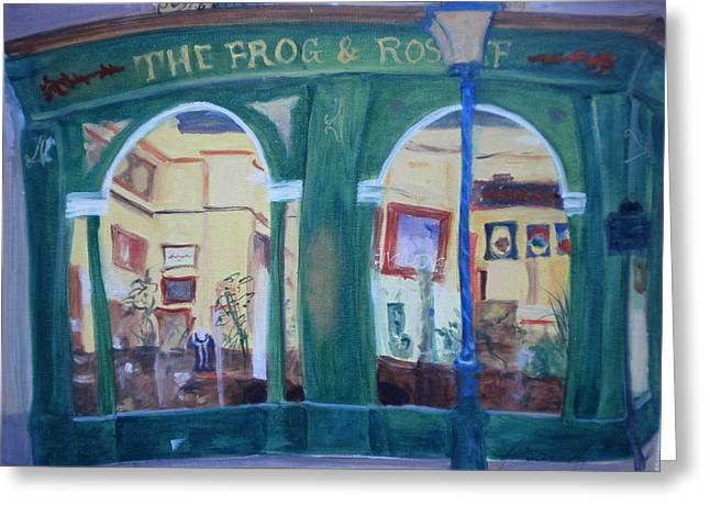 Facades Photographs Greeting Cards - Frog And Roast Beef, 2010 Oil On Canvas Greeting Card by Antonia Myatt