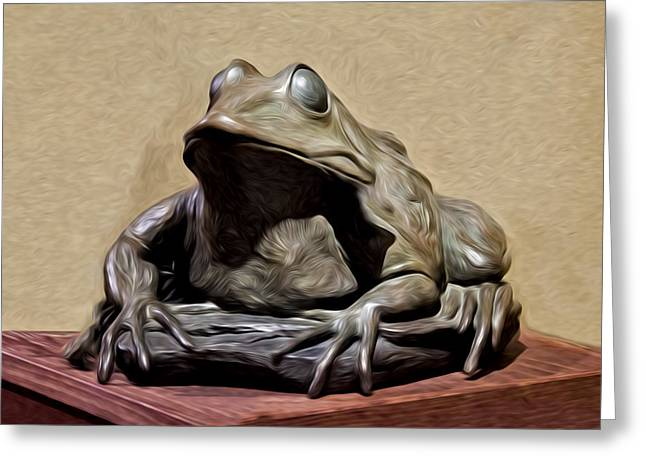 Froggy Greeting Card by David Kehrli