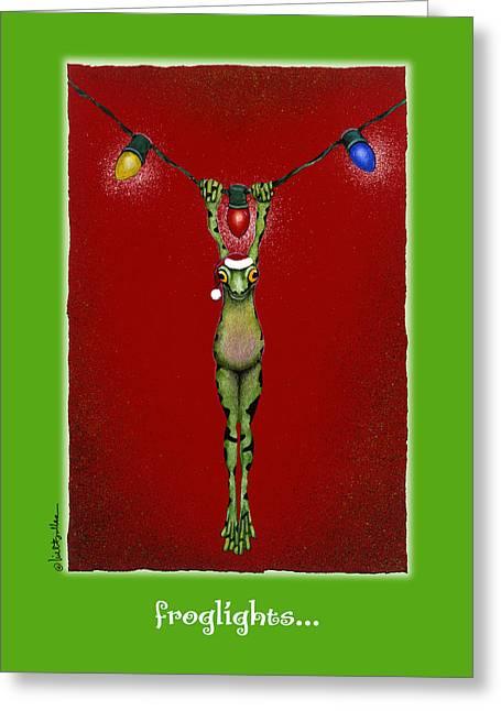 Santa Hat Greeting Cards - Froglights... Greeting Card by Will Bullas