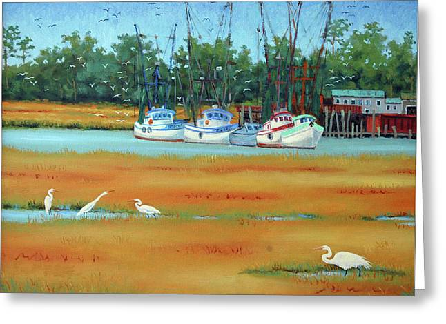 Frogmore Greeting Cards - Frogmore Boats Greeting Card by Dwain Ray