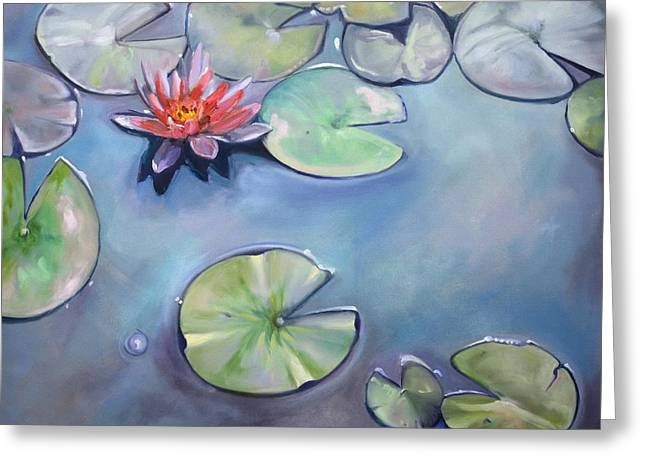 Lilly Pads Greeting Cards - Frogs Paradise Greeting Card by Donna Tuten