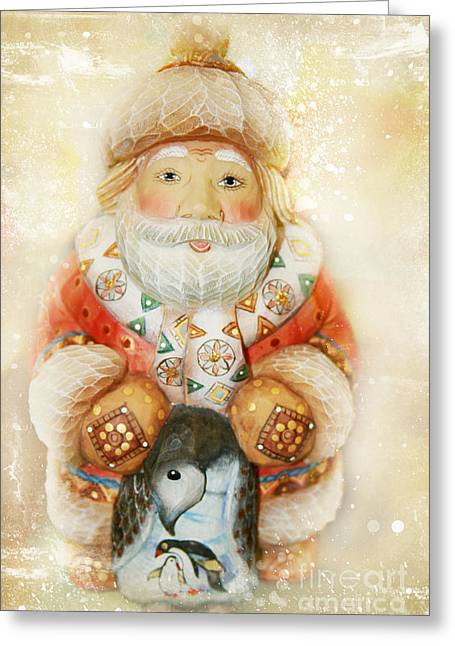 Nicholas Greeting Cards - frohe Weihnachten Greeting Card by Sharon Mau