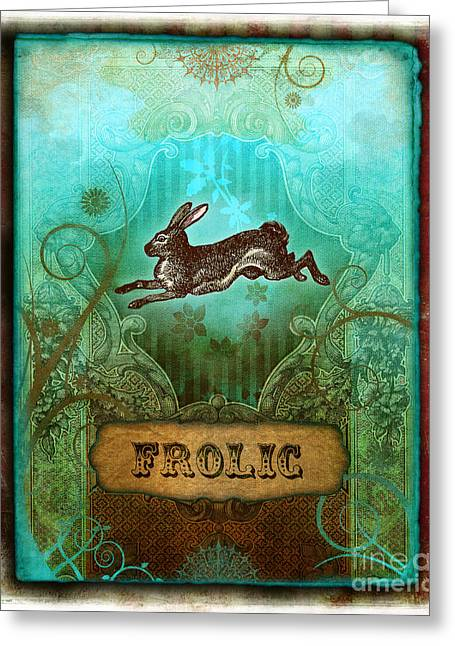 Puppies Digital Art Greeting Cards - Frolic Greeting Card by Aimee Stewart